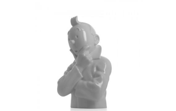 Busto Tintín pensativo
