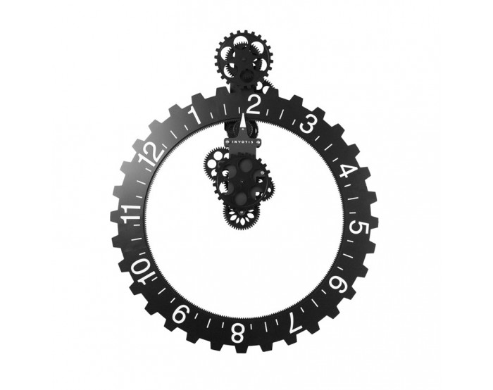 Big hour wheel clock