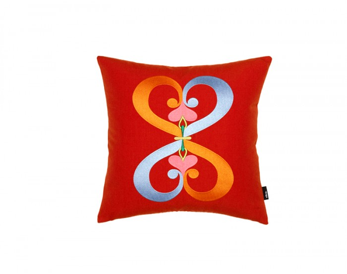 Embroidered Pillows - Double Heart