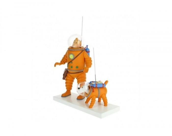 Tintin y Mila sobre hielo lunar